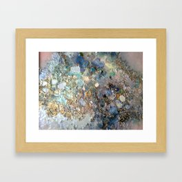 Mother-of-pearl on pink Framed Art Print