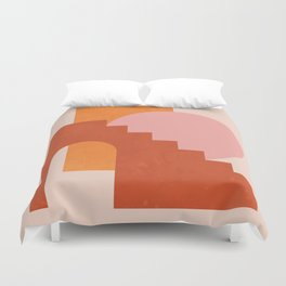 Abstraction_SHAPES_COLOR_Minimalism_003 Duvet Cover