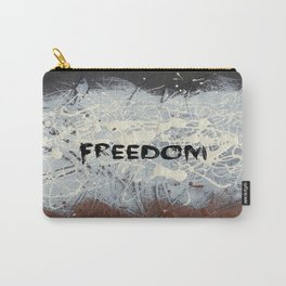 Freedom Pollock Rothko Inspired Black White Red - Modern Carry-All Pouch