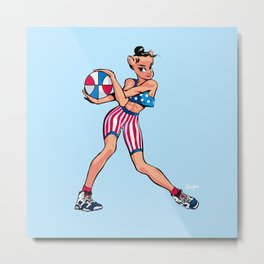 CoolNoodle USA Olympic Metal Print