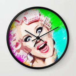 CURLERS Wall Clock