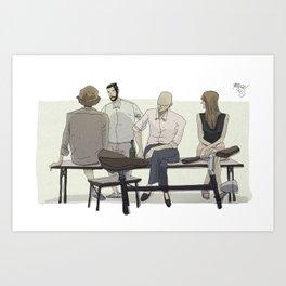 I agree Art Print
