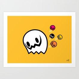 Halloween series - Popping Ghosts Art Print