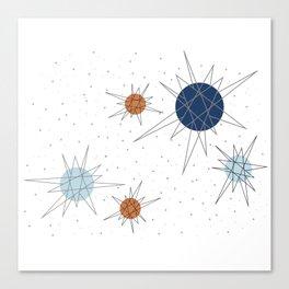 Atomic Stars Blue & Orange Canvas Print