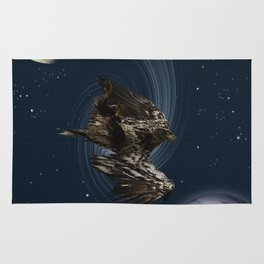 Freefalling Young Bald Eagle Rug