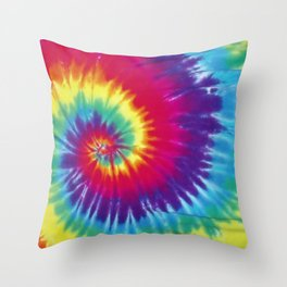 Tie dye hippie Throw Pillow