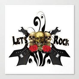 Let's Rock Canvas Print