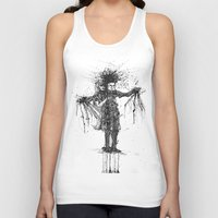 edward scissorhands Tank Tops featuring Edward Scissorhands by V.Live