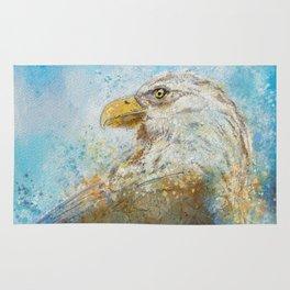Expressive Bald Eagle Rug