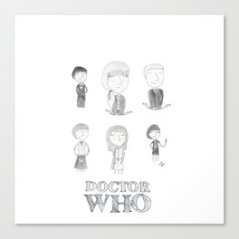 Doctor Who - Second Doctor and Friends! Canvas Print