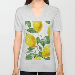 TROPICAL LEMON TREE Unisex V-Neck