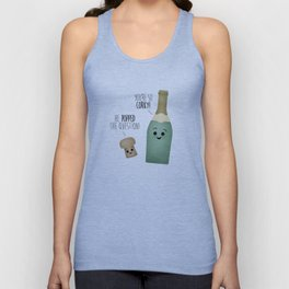He Popped The Question! You're So Corky! Unisex Tank Top