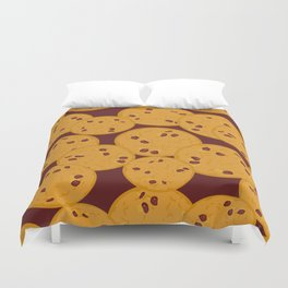 Chocolate chip cookie Duvet Cover