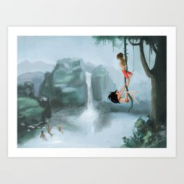 Young and lovin' it Art Print