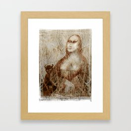 The Temptation of Mona Lisa. Framed Art Print