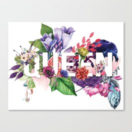 Queen Floral Canvas Print