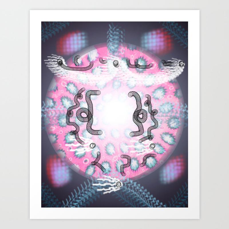 Mandala Bubble 24 Art Print by Lindanking PRN8655233