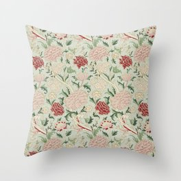 William Morris Cray Floral Pre-Raphaelite Vintage Art Nouveau Pattern Throw Pillow
