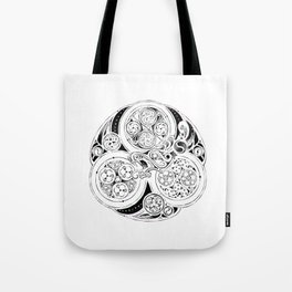 BBC Merlin: In Spite of Everything, the Stars (Dragon Triskelion tattoo) Tote Bag