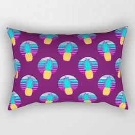 Vaporwave pineapples. Maroon background. Rectangular Pillow