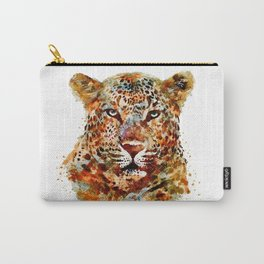 Leopard Head watercolor Carry-All Pouch