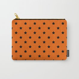 Orange and Black Stars Pattern Carry-All Pouch