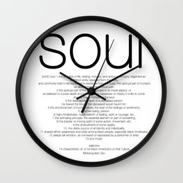 Soul T Wall Clock