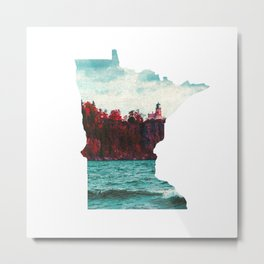Minnesota-Split Rock Lighthouse at Lake Superior Metal Print