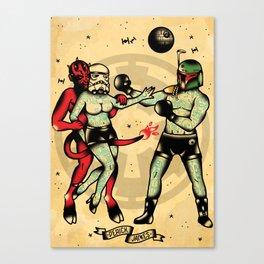 Star Wars Tattoo Flash Canvas Print
