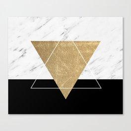 Golden marble deco geometric Canvas Print