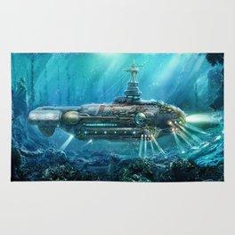 Steampunk Submarine Rug