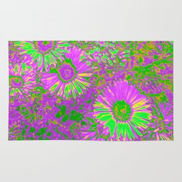 Amazing glowing Flowers A Rug