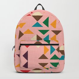 Triangle mod pink Backpack