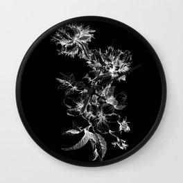 Flowers nega Wall Clock
