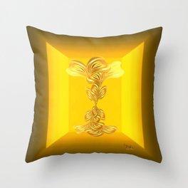 The gratitude plant Throw Pillow