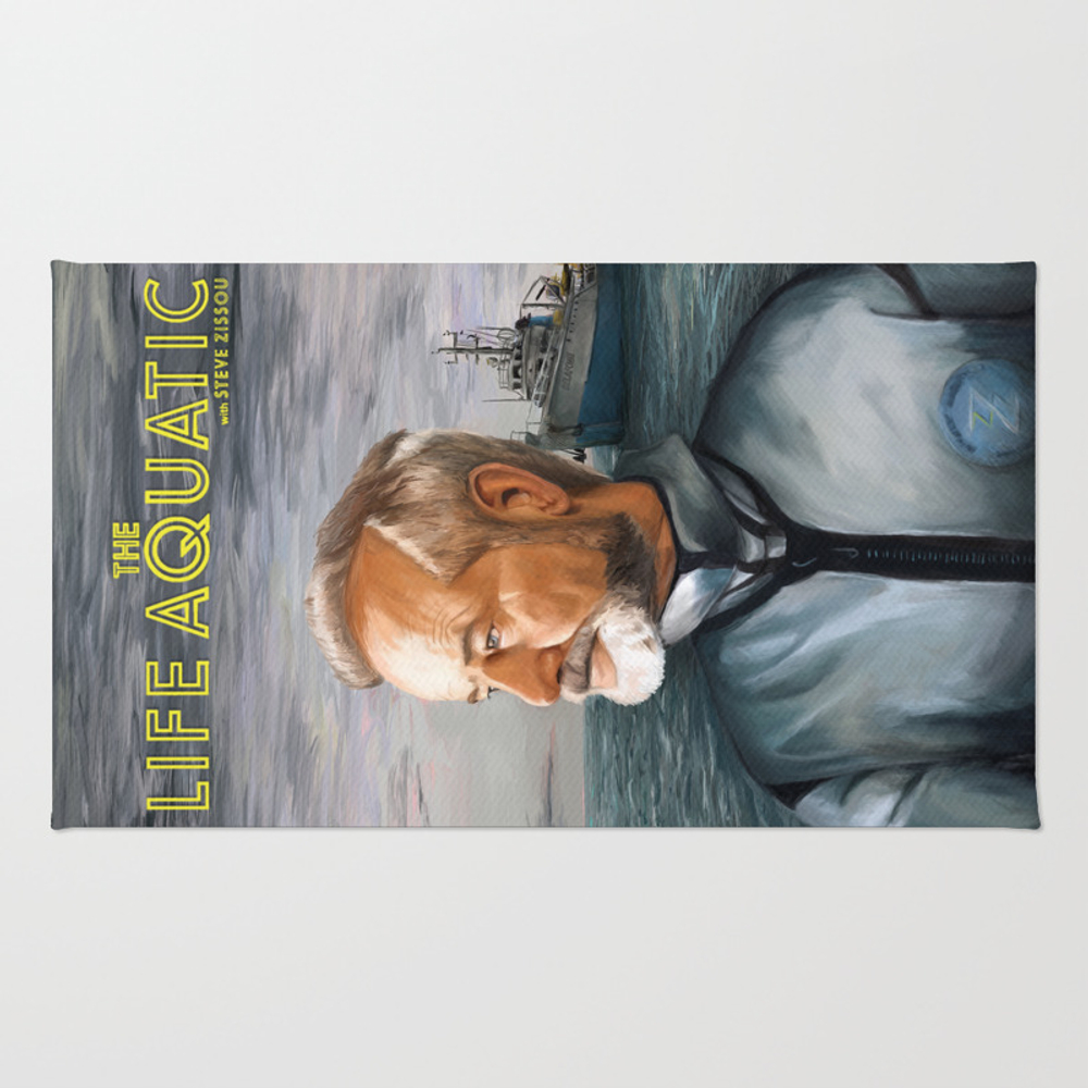 The Life Aquatic With Steve Zissou Rug by Graffitiwar RUG8739241