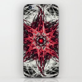 Dark Magic Fractal RED iPhone Skin