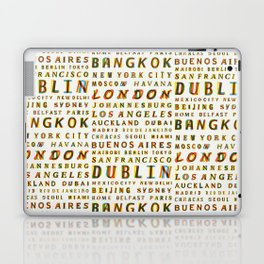 Travel World Cities Laptop & iPad Skin