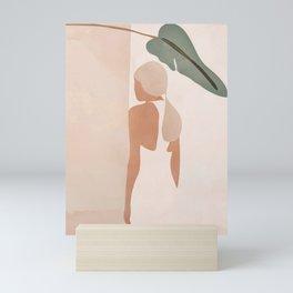 Abstract Woman in a Dress Mini Art Print