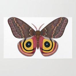 io moth (Automeris io) female specimen 2 Rug