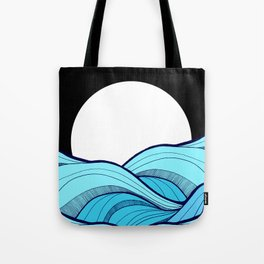 Lines in the waves Tote Bag