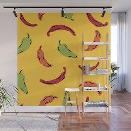 Pepper Print Wall Mural