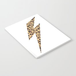 Wild Thing Leopard Lightning Bolt Notebook