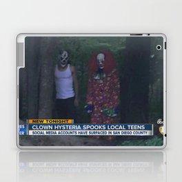 CLOWN HYSTERIA SPOOKS LOCAL TEENS Laptop & iPad Skin