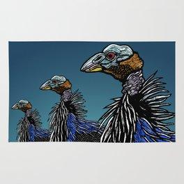Exotoc birds - Vulturine Guineafowl Rug