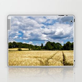 Golden wheat field poetry Laptop & iPad Skin