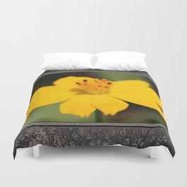 Cosmos Sulphureus named Ladybird Dwarf Lemon Duvet Cover