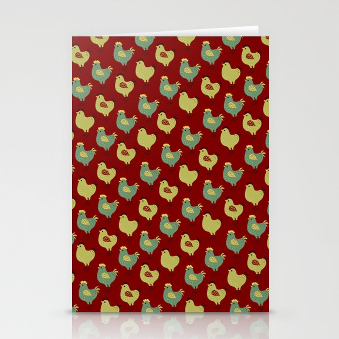 Chicken Case (red) Stationery Cards