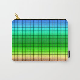 Rainbow plaid #Rainbow #plaid #Ombre #gradient Carry-All Pouch