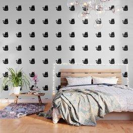 Meow time black cat Wallpaper